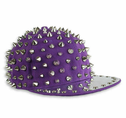 purple Cupcake Cult Full spike hat flat top Dance crew PUNKgoth punk street