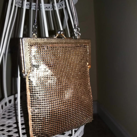 StunningVintage Retro gold Evening bag/CLASP 6