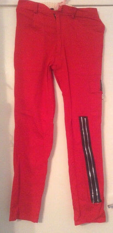 Vintage  punk Red  trousers By Tiger London 28
