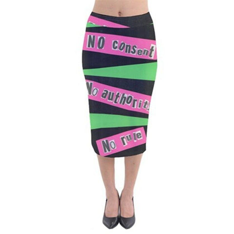 PUNK Exclusive Original Designer Velvet Midi Pencil Skirt Size:Medium10-12uk