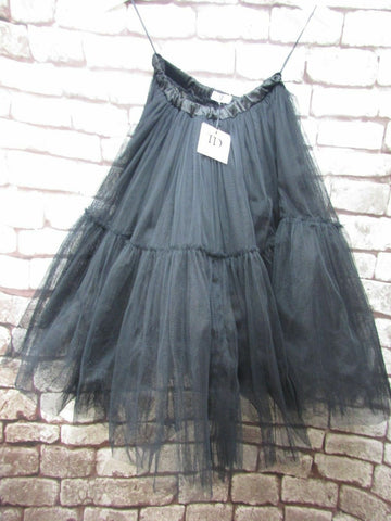 BNWT TRUE DECADENCE BLACK NET SKIRT SIZE 8 WITH TAGS
