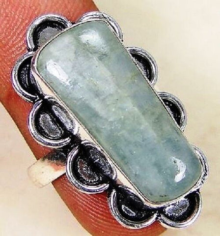 FUNKY Rainbow Moonstone & 925 Silver Handmade Beautiful Ring Size R G83-34526