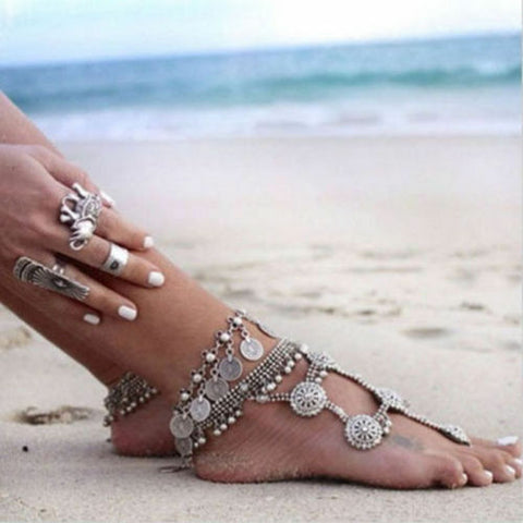 New tribal/boho/gypsy  Gypsy Bohemian Coin Hippie Boho Tribal anklet