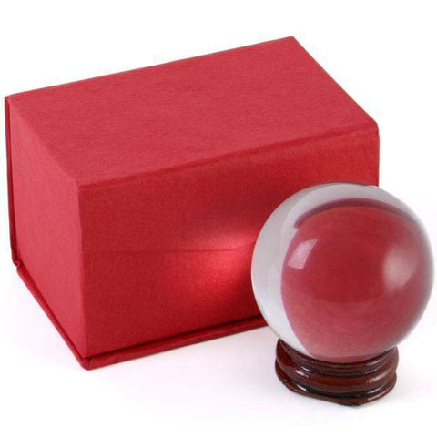 5cm Crystal Ball on Stand (1) 5cm Crystal Ball on SMALL WOODEN Stand