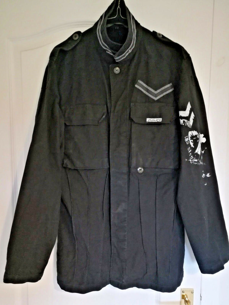 Psiclone jacket goth rock industrial punk infest small medium rare unique.size38
