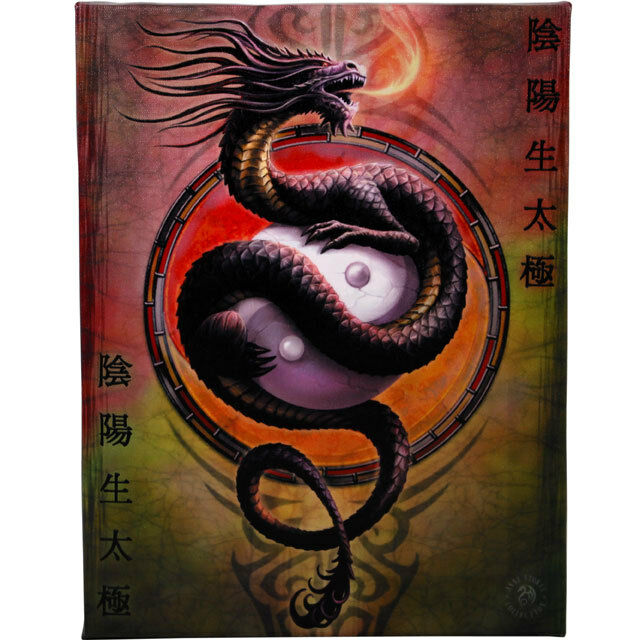 PAGAN/WICCAN/NEW AGE Yin yang protector wall plaque by anne stokes