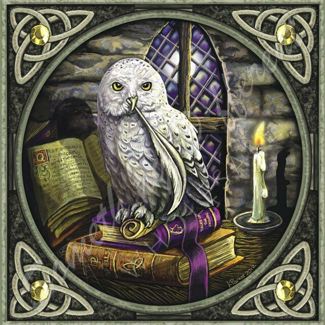 Gothic/Pagan/New AGe/Celtic Gothic/Pagan/New AGe/Celtic Owl Card By Lisa Parker