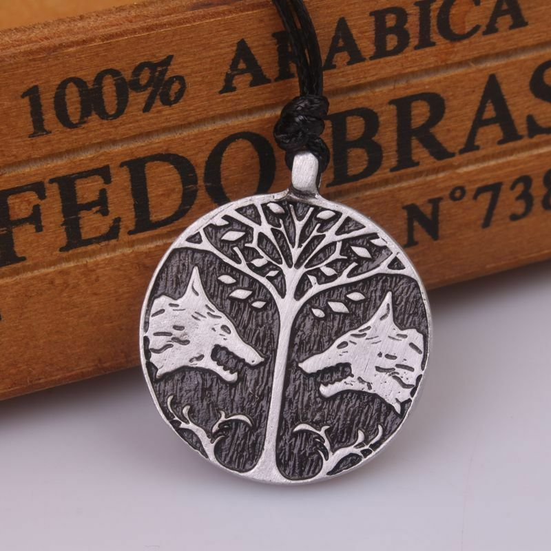 2 Wolf talisman Pendant Necklace Game Destiny Rope Necklaces Pendant Jewelry