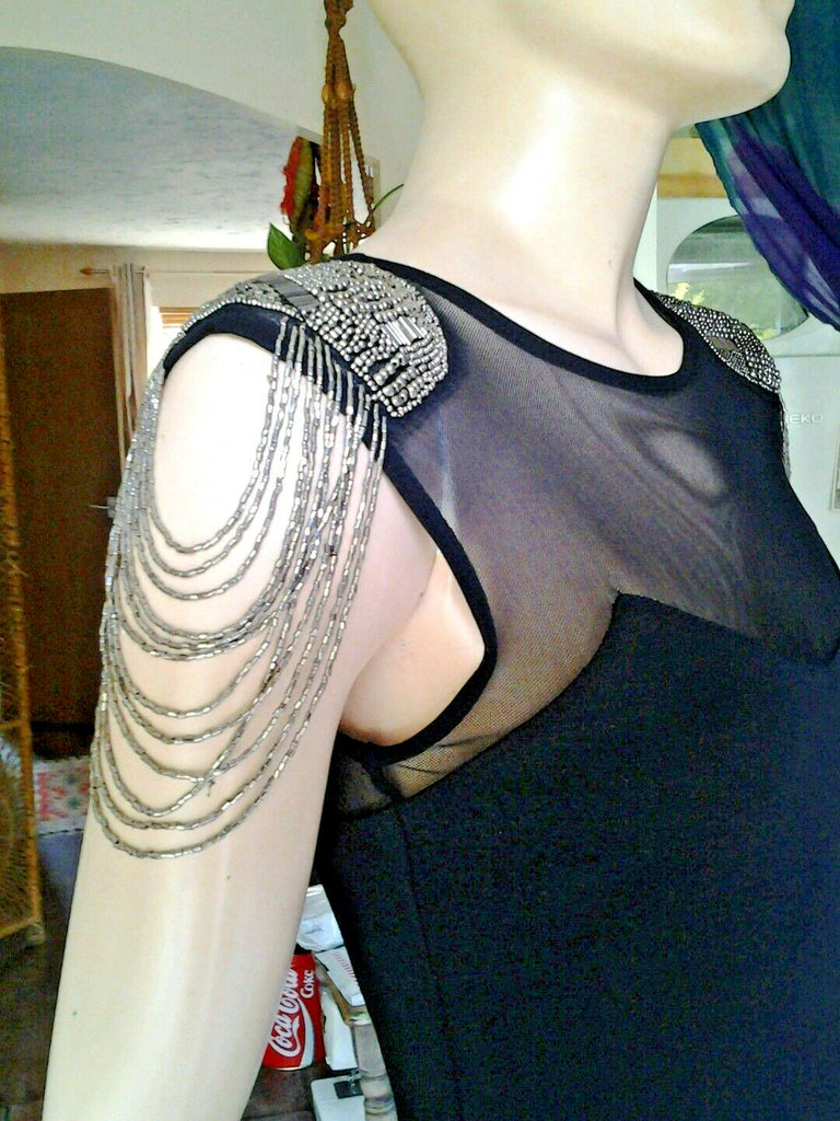 Unusual Gothic/Punk steampunk dress top shop with tassle shoulders
