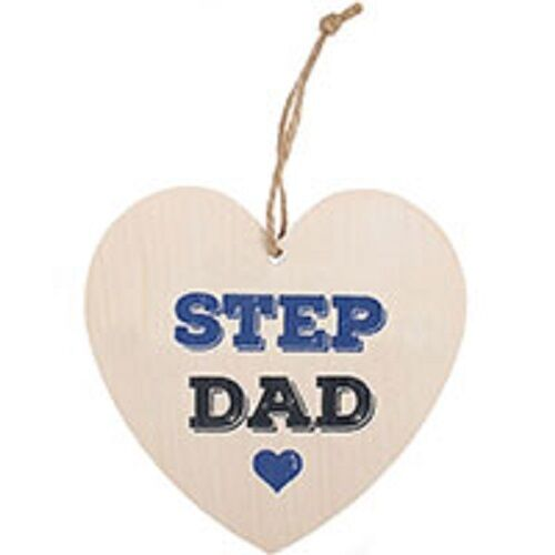 SHABBY CHIC/RETRO STEP DAD mdf sign-H:12cm W:11.5cm D:0.5cm