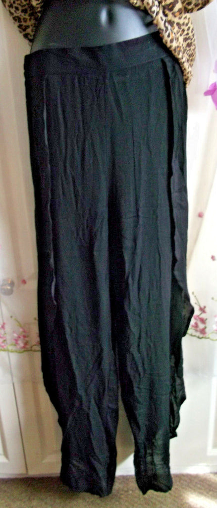 Boho/Festi/Beach/ size 8.side split lightweight, trousers NEW, loose,crinkle