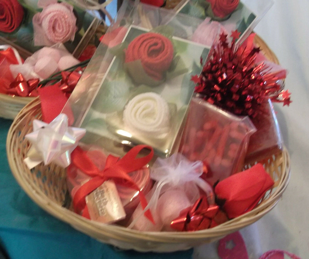 valentines day/mothers day HAND-MADE SOAP-Red Rosebasket1 GIFT SETS.perfect gift
