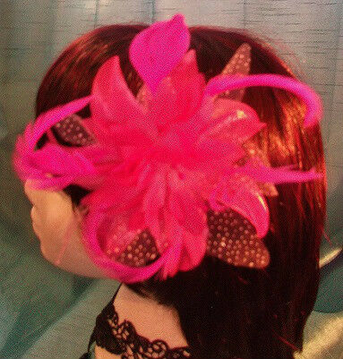 STEAMPUNK/BURLESQUE LILAC FEATHER Fascinator-wedding/prom/halloween/party