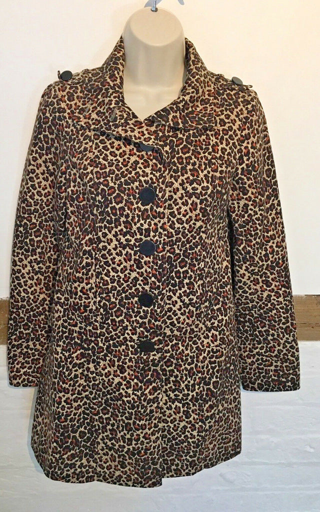 LADIES SIZE 8 COAT JACKET LADIES ANIMAL PRINT JACKET COAT