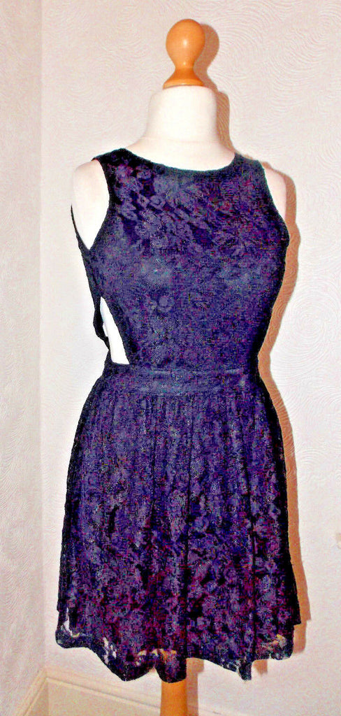 cute kawaii emo goth eveing party cut out backless lace dress affair clothing 10