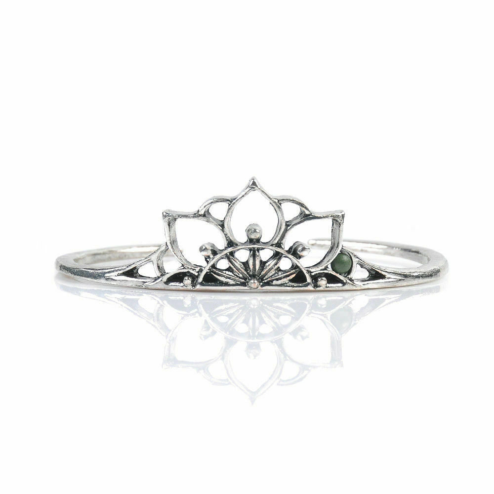 Fashion Cute Boho Sterling Silver Hollow Crown Cuff Bangle & Bracelets Gifts