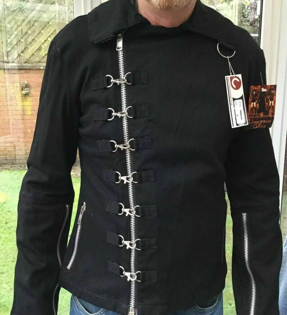 New Criminal Damage Black Bondage Punk/Goth Jacket XL-42