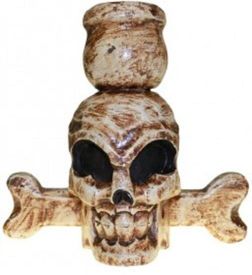 HALLOWEEN/PAGAN/ BALINESE SKULL & BONES funky candle holder-18x20x11 (cm