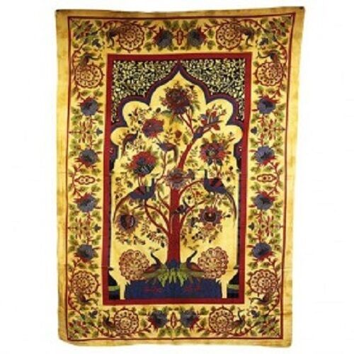 PAGAN/SPIRITUAL ICONIC TREE OF LIFE -BROWN wall hanging/DOUBLE BEDSPREAD.