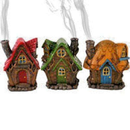 FAIRY/PAGAN/gothic/wiccan/gift Fairy house incense burner by lisa parker-