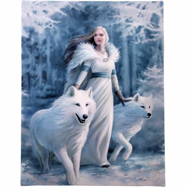 PAGAN/WICCAN/ Small Winter Warrior Canvas H:25.40cm xW:19.30cm xD:1.20cm
