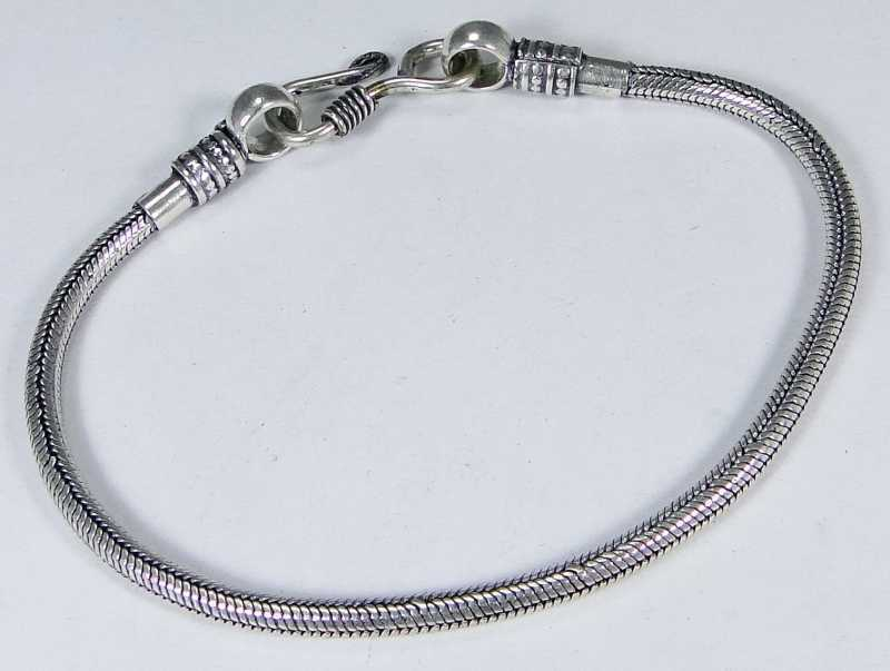 Lovely & 925 Silver Handmade Unusual Bracelet 225mm & gift-box