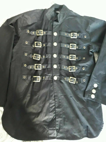 punk/goth Dead Threads goth punk black buckle jacket. Size Large.