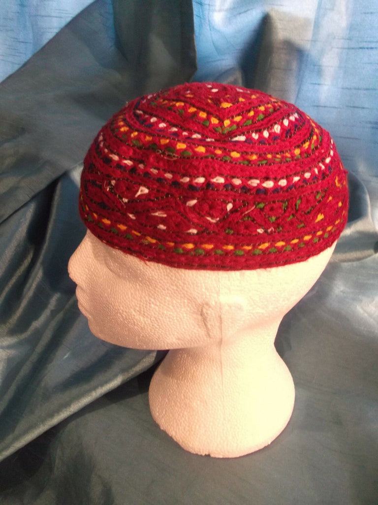 punk/cosplay/festi/stagewear/costume/ RED FEZ STYLE HAT WITH DOT 20