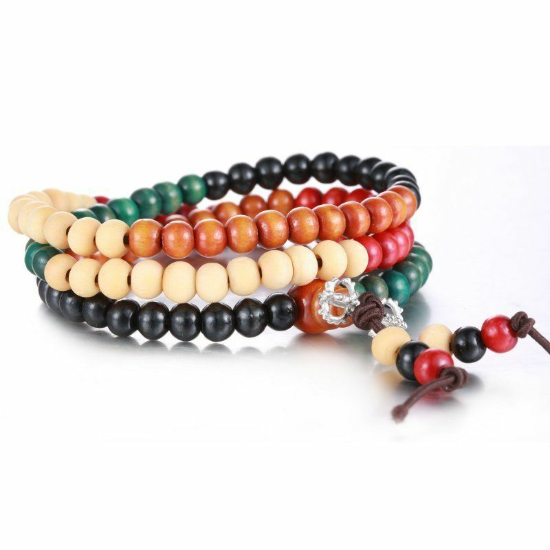 Sandalwood 6mm Buddhist Meditation/fENG  108 Prayer Beads Mala Bracelet Necklace