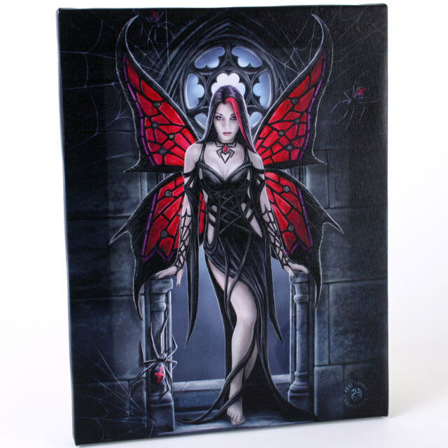 PAGAN/WICCAN/NEW AGE Aracnafaria fairy canvas by Anne Stokes.Approx 20cmX 26cm