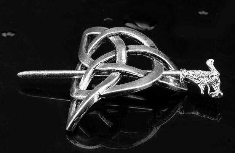 Women Hairpin Celtic-Knot Metal Stick Slide Hair Clip Retro Hair Jewellery Gift