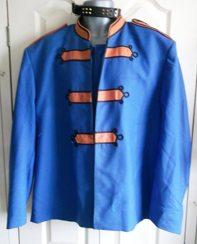 GothicPUNK Military Band Blue Jacket for Men Vintage Goth Coat Jacket STEAMPUNK
