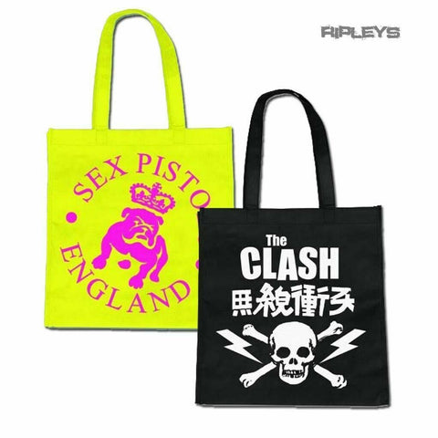 punk OFFICIAL BAND Punk Pistols/ Clash ECO Tote Shopping Bags