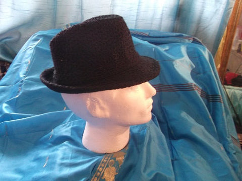 Black Gangstar Trilby Hat-wool/corderoy /CosPlay/Festivals/burlesque/theatre/stage wear