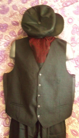 True Vintage-grey wool pinstripe mens Steampunk/Avant guarde waistcoat-chest 46