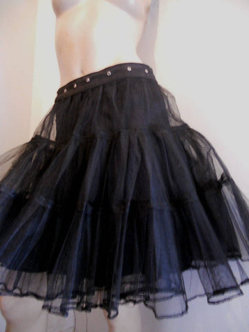 Stunning black net victorian style/punk/steampunk/glamour/performance/style skirt. Size 12
