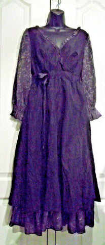 Gorgeous floaty Black Wrap Front Dress by My Collection Design Paris, Size Medium