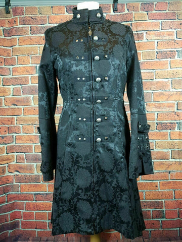 STEAMPUNK/GOTH new Living Dead Souls Black Gothic Coat Size Medium BNWT Unisex