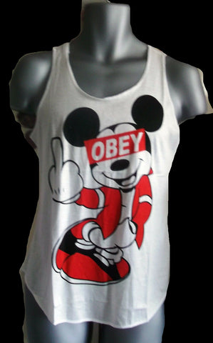 Disney-obey punk PRINTED VEST SLEEVELESS LOGO LIGHTWEIGHT NEW VEST TOP