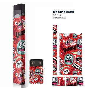 Magic shark Original STICKER for Juul 12 Pattern colors 3M Adhesive Printing Label