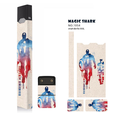 Magicshark STICKER for Juul 10 Pattern 2.5D stereo film Sticker 3M Adhesive Printing Label skin  for Juul -original