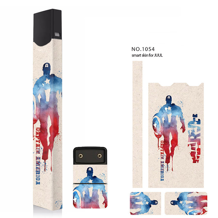 Stickers For JUUL skin protector 3M adhesive Super Hero pattern