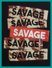 Load image into Gallery viewer, 21 Savage Box Logo Red and Desert Camouflage Size M