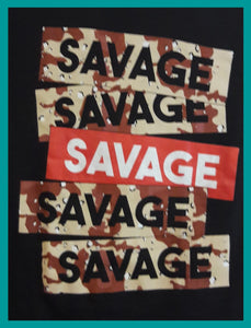 21 Savage Box Logo Red and Desert Camouflage Size M