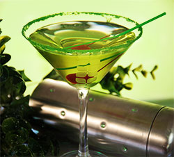 Grinch-Tini Martini