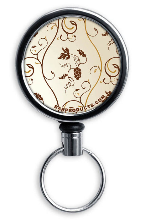 CUSTOMIZABLE Mini Bottle Opener with Retractable Reel - Vintage Design 2