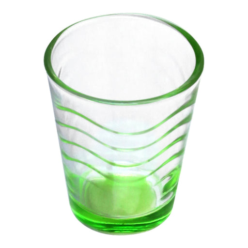BarConic® Glassware - Shot Glass - Green Wave 1.75 ounce