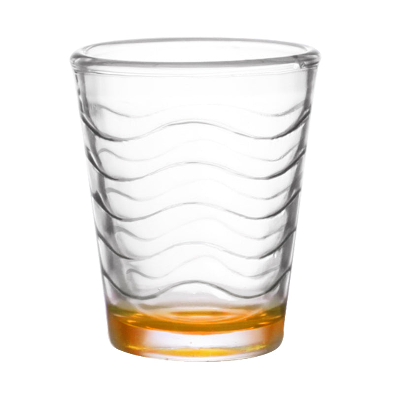 BarConic® 1.75 ounce Orange Wave Shot Glass