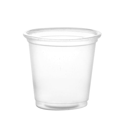 BarConic® Drinkware - Clear Plastic Cup - 1 ounce