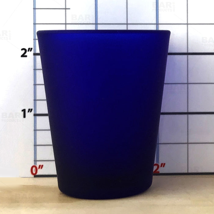 BarConic® Dark Blue Shot Glass - 1.5 oz [Box of 12]